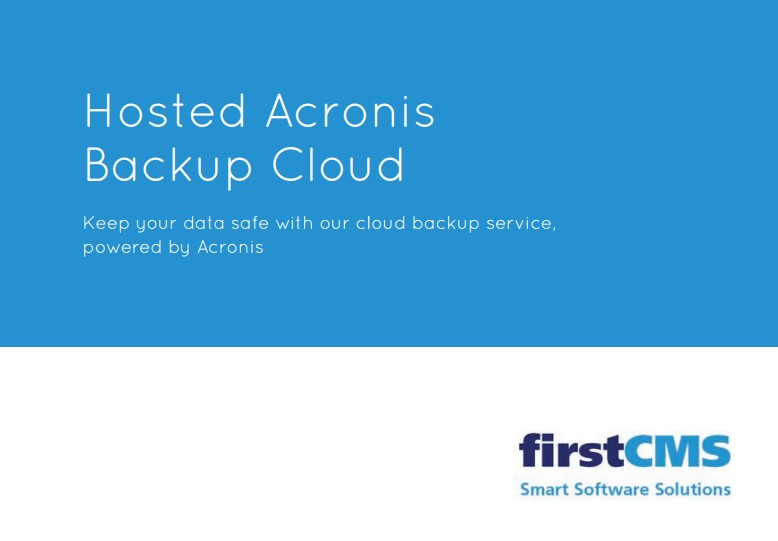 acronis backup brochure